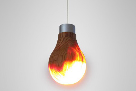 Geek Weekly Fiery Wooden Light Bulb Looks To Be Inhabited By Eye Of Sauron
