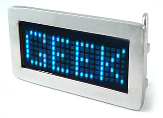 LED scrolling belt buckle