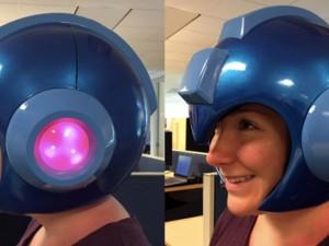 life size mega man helmet