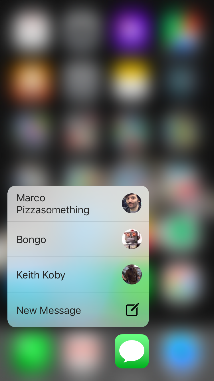 Messages 3D Touch