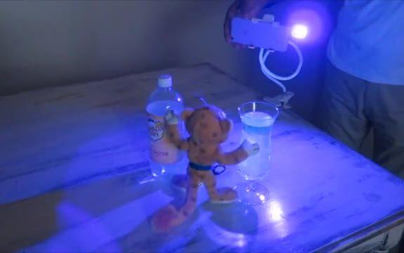 ReveaLED II Night Vision UV Flash Light Plugs In Phone
