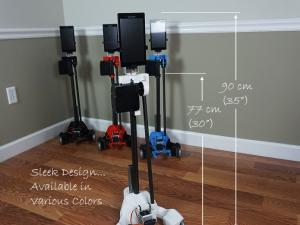 Origin Robotics, Inc., robotics, robot, bots, bot, indiegogo, ORIGIBOT2 Telepresence Robot Platform with Arm & Gripper, ORIGIBOT2 Advanced Carbon Fiber Telepresence Robot Platform with Arm and Gripper